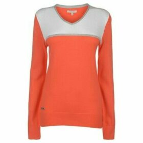 adidas  V Neck Golf Sweater Ladies  women's Sweater in Orange