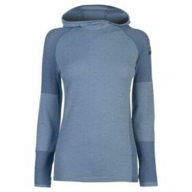 adidas  ClimaHeat Long Sleeve Hooded Top Ladies  women's Sweatshirt in Grey