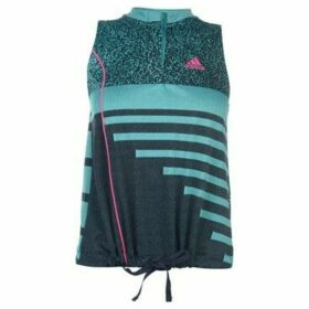 adidas  Seasonal Tank Top Ladies  women's Blouse in Blue