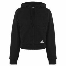 adidas  3 Stripe Hoodie Ladies  women's Sweatshirt in Black