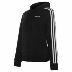 adidas  Essential 3 Stripe Zip Hoody Ladies  women's Sweatshirt in Black