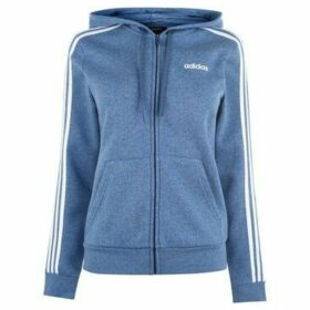 adidas  Essential 3 Stripe Zip Hoody Ladies  women's Sweatshirt in Blue