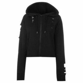 Firetrap  Distress Hoody Ladies  women's Sweatshirt in Black