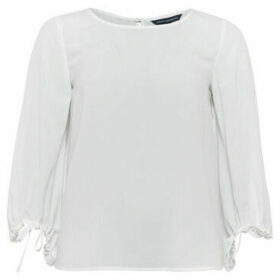 French Connection  Solid long-sleeved blouse  women's Blouse in White