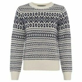 French Connection  Jacquard print sweater  women's Sweater in Beige