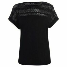 Golddigga  Slub Top Ladies  women's Blouse in Black