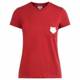 Kenzo  Tigre T shirt in red cotton with patch pocket with contrast  women's T shirt in Red