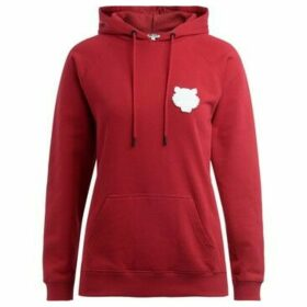 Kenzo  Tigre sweatshirt in cherry red cotton with hood  women's Sweatshirt in Red