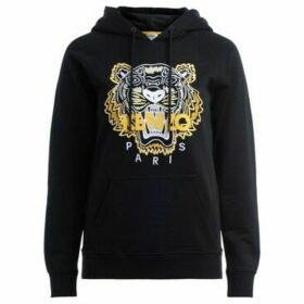 Kenzo  black tiger hooded sweatshirt with embroidered tiger  women's Sweatshirt in Black
