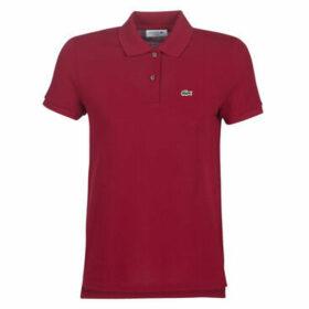 Lacoste  PF7839  women's Polo shirt in Bordeaux