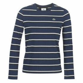 Lacoste  TF8212  women's T shirt in Blue