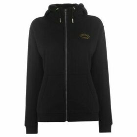 Lonsdale  Zip Hoodie Ladies  women's Sweatshirt in Black