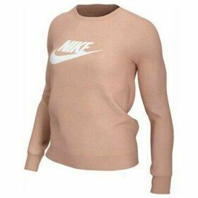 Nike  W NSW Essntl Crew FLC Hbr Long Sleeved  women's Sweatshirt in Pink