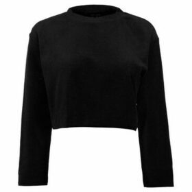 Usa Pro  Velour Sweat Top Ladies  women's Blouse in Black
