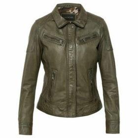 Oakwood  WHITNEY Leather Jacket  women's Leather jacket in Green