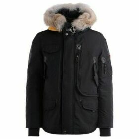 Parajumpers  Right Hand jacket in black oxford nylon with fur-lined hood  women's Parka in Black