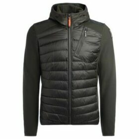 Parajumpers  Nolan model jacket in green quilted fabric with elasticized  women's Jacket in Black