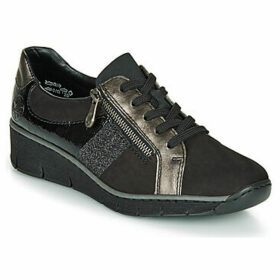Rieker  53713-02  women's Shoes (Trainers) in Black