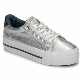 Only  SAILOR PU  women's Shoes (Trainers) in Silver