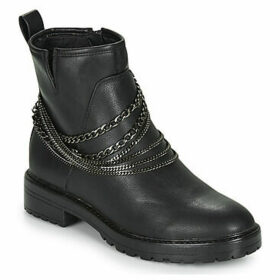 Only  BAD CHAIN WRAP  women's Mid Boots in Black