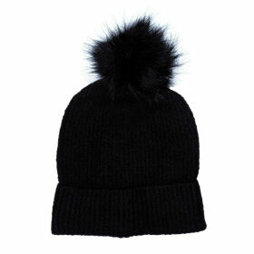 Only Womens Simma Pom Pom Beanie Hat Size One Size in Black