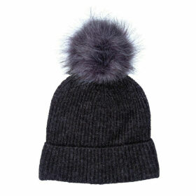Only Womens Simma Pom Pom Beanie Hat Size One Size in Grey