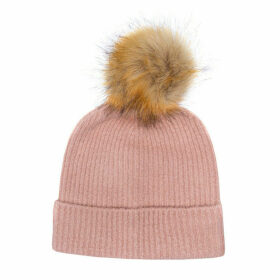Only Womens Simma Pom Pom Beanie Hat Size One Size in Pink