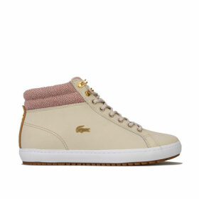 Lacoste Womens Straightset Insulate Trainers Size 4.5 in Cream