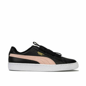 Womens Basket Maze Leather Trainers