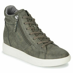 Esprit  LIZETTE WEDGE  women's Shoes (High-top Trainers) in Green