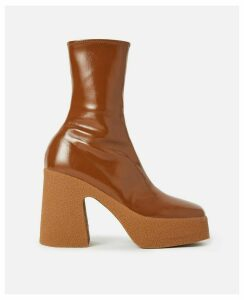 Stella McCartney Brown Chunky Ankle Boots, Women's, Size 2.5