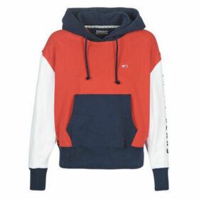Tommy Jeans  TJW CONTRAST SLEEVE LOGO HOODIE  women's Sweatshirt in Multicolour