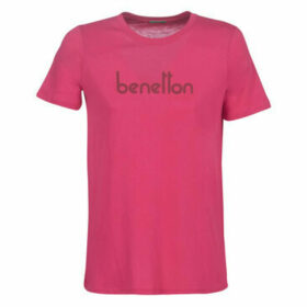 Benetton  PALIFOU  women's T shirt in Pink
