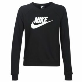 Nike  W NSW ESSNTL CREW FLC HBR  women's Sweatshirt in Black
