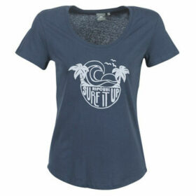 Rip Curl  SURF IT UP TEE  women's T shirt in Blue