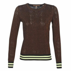 Maison Scotch  BASIC PULL WITH LUREX   STRIPED RIBS  women's Sweater in Red