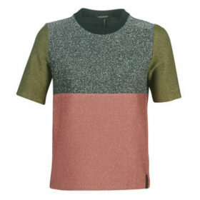 Maison Scotch  COLOUR BLOCK LUREX SHORT SLEEVE TEE  women's Blouse in Pink