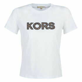 MICHAEL Michael Kors  MF95MAS97J-100-WHITE  women's T shirt in White