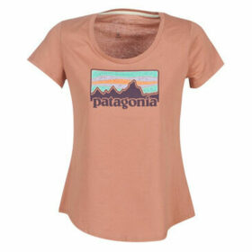 Patagonia  W'S SOLAR RAYS '73 ORGANIC SCOOP T-SHIRT  women's T shirt in Pink