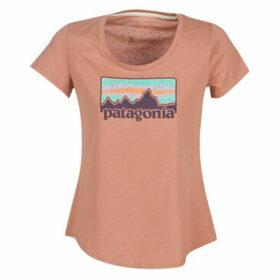 Patagonia  W'S SOLAR RAYS '73 ORGANIC SCOOP T-SHIRT  women's T shirt in Pink