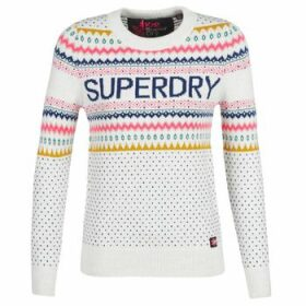 Superdry  OSLO FAIRISLE JUMPER  women's Sweater in White