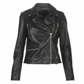 Oakwood  NIGHT  women's Leather jacket in Black