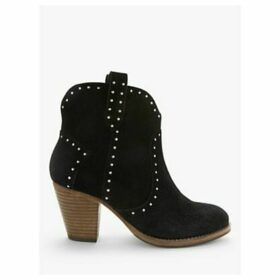 AND/OR Quinci Suede Studded Western Ankle Boots