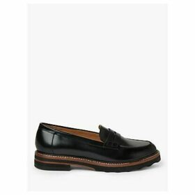 John Lewis & Partners Gabryjel Leather Loafers, Black