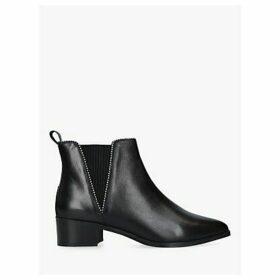 Carvela Spiral Leather Flat Ankle Boots, Black