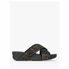 FitFlop Lulu Glitter Slide Sandals