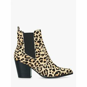 Steve Madden Patricia Leather Ankle Boots, Brown/Multi