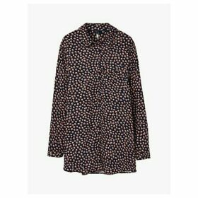 Joules Erika Button Through Blouse, Navy Animal Spot