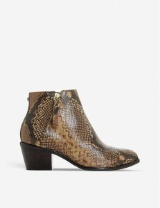 Paramount snake-embossed leather heeled ankle boots