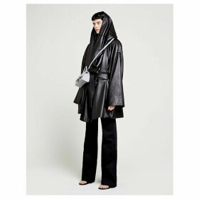 Incognito hooded leather coat